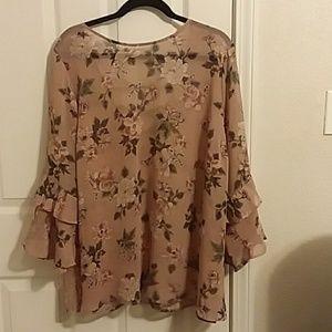 Torrid rose pink blouse